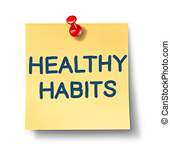 saudável, notas, hábitos, escritório