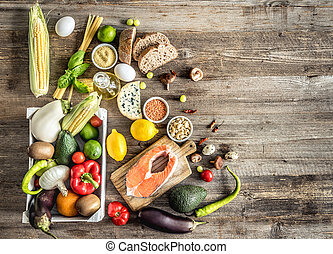 saudável, orgânica, nutritivo, dieta
