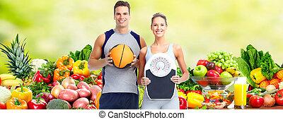 saudável, par., condicão física