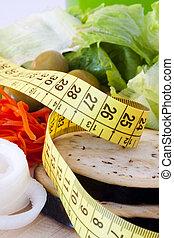 saudável, perda peso, dieta