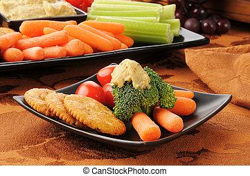 saudável, prato, lanche