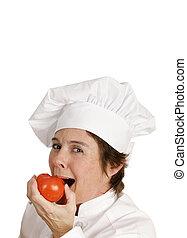 &, saudável, série, -, cozinheiro, gostosa