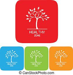 saudável, símbolo, zona