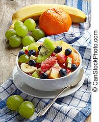 saudável, salada fresca fruta