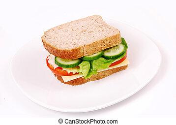 saudável, sanduíche