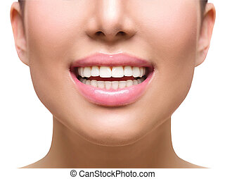 saudável, smile., dentes, whitening., cuidado dental, conceito
