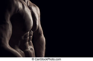 saudável,  sporty,  Muscular, homem
