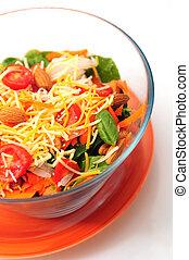 saudável, tigela, salada
