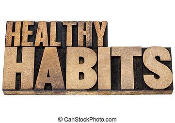saudável, tipo, madeira, hábitos