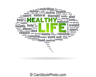 saudável, -, vida, borbulho fala