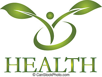 saudável, vida, logotipo, vetorial