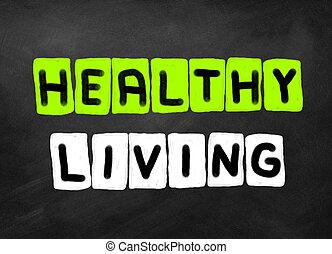 saudável, vivendo