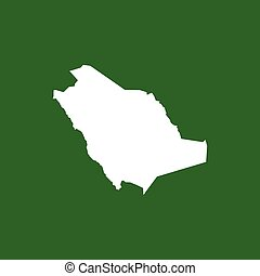 Saud Arabia map icon. Vector eps10 illustration