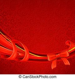 saudação, fundo, vermelho