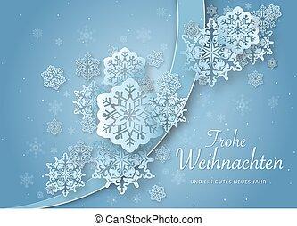 saudação, papel, natal, abstratos, snowflakes