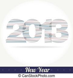 saudação, vetorial, 2013, ano, novo, cartão