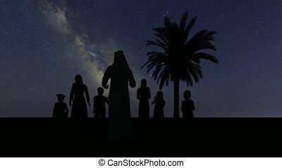 Saudi Arab parents Muslim character on stars