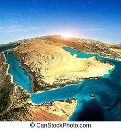 Saudi Arabia 3d map