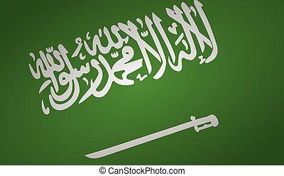saudi arabia flag angle shape.