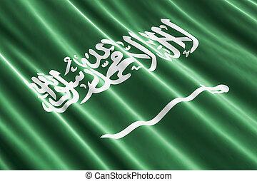 Saudi Arabia flag background, 3D rendering