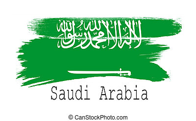 Saudi Arabia flag on white background