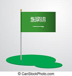 Saudi Arabia Flag Pole