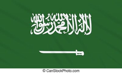 Saudi Arabia flag waving cloth background, loop - Saudi...