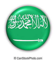 Saudi Arabia Flag - World Flag Button Series - Asia/Middle...