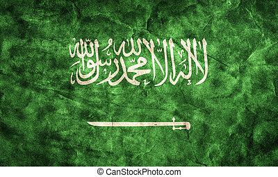 Saudi Arabia grunge flag. Item from my vintage, retro flags...