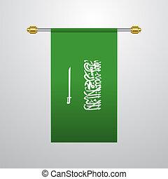 Saudi Arabia hanging Flag