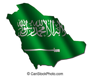 Saudi Arabia map flag