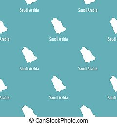 Saudi Arabia map in black  simple
