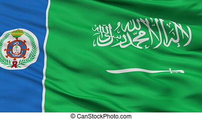 Saudi Arabia Naval Ensign Flag Closeup Seamless Loop - Naval...