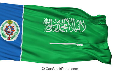 Saudi Arabia Naval Ensign Flag Isolated Seamless Loop -...