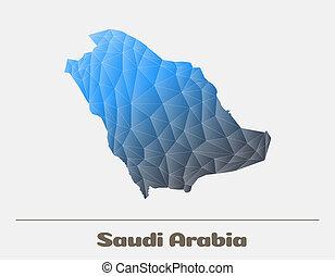 Saudi Arabia Network Map. Vector logo Illustration - Saudi...