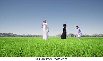 Saudi arabia parents uae kids. Saudi happy family 4k
