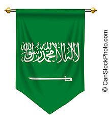 Saudi Arabia Pennant - Saudi Arabia flag or pennant isolated...