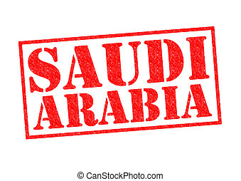 SAUDI ARABIA Rubber Stamp over a white background.