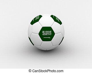 Saudi Arabia soccer ball - Photorealistic 3D soccer ball...
