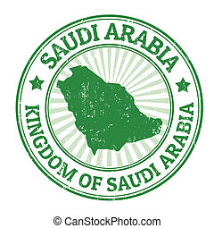 Saudi Arabia stamp - Grunge rubber stamp with the name and...