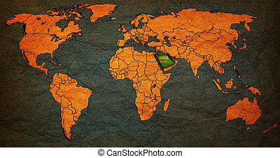saudi arabia territory on world map