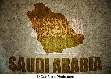 saudi arabia vintage map - saudi arabia map on a vintage...