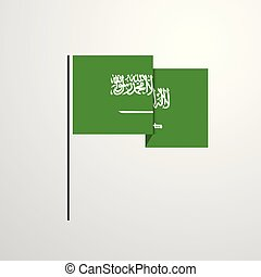 Saudi Arabia waving Flag design vector background