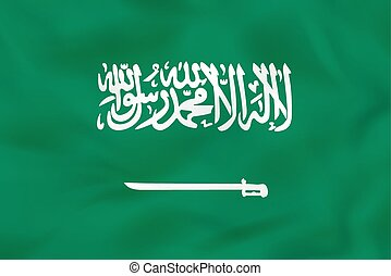 Saudi Arabia waving flag. Saudi Arabia national flag background texture.