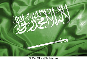 Saudi Arabia waving flag