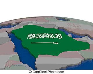 Saudi Arabia with flag