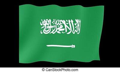 Saudi Arabian flag. . Waving - Flag animation Useful for...