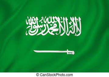 Saudi flag - Saudi Arabia flag background texture.