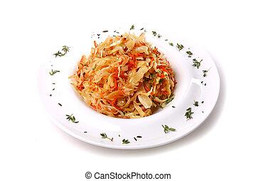 Sauerkraut with a parsley
