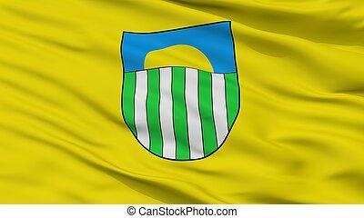 Saulkrasti City Flag, Latvia, Closeup View - Saulkrasti City...